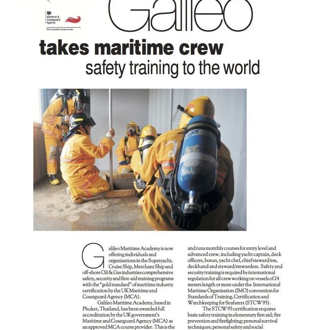 Galileo Gets Serious About Water Safety